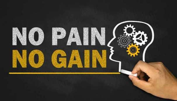 no-pain-no-gain gear head