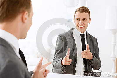 man-looking-mirror-pointing-himself-you-winner-smiling-help-his-index-fingers-54179361